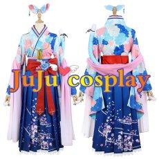 画像1: バーチャル 5期生 お正月衣装 雪花ラミィ コスプレ衣装 (1)
