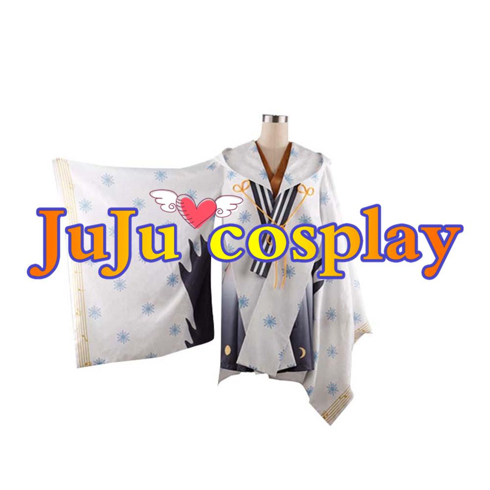 画像1: 送料無料!! 初音ミク  2018雪巫女ミク コスプレ衣装 (1)