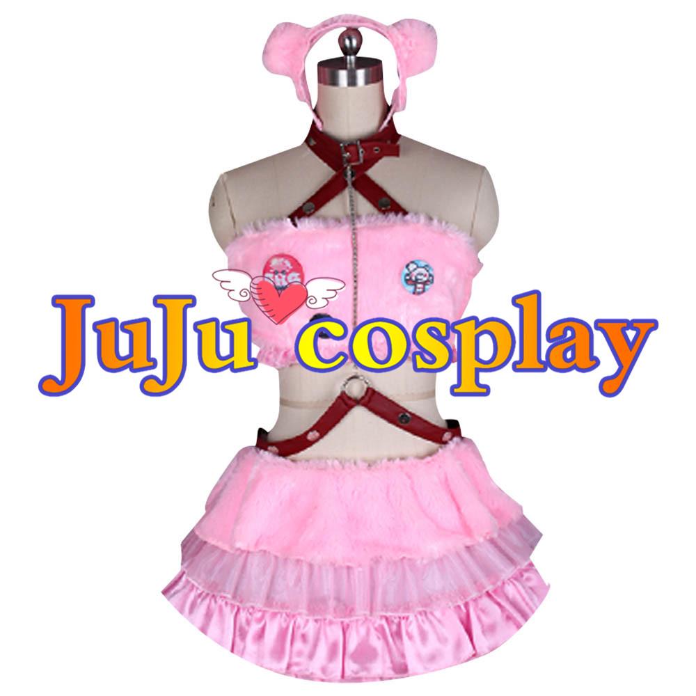 画像1: 送料無料!! ニトロスーパーソニック すーぱーそにこ グルーミー熊 SUPER SONICO ピンク 暴力熊 コスプレ衣装 (1)