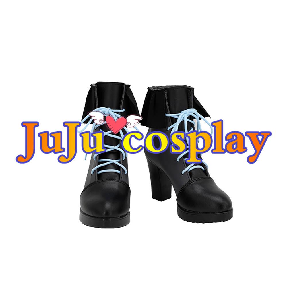 画像1: バーチャルYouTuber VTuber ホロライブ 潤羽るしあ コスプレ靴/ブーツ コスプレ衣装 (1)