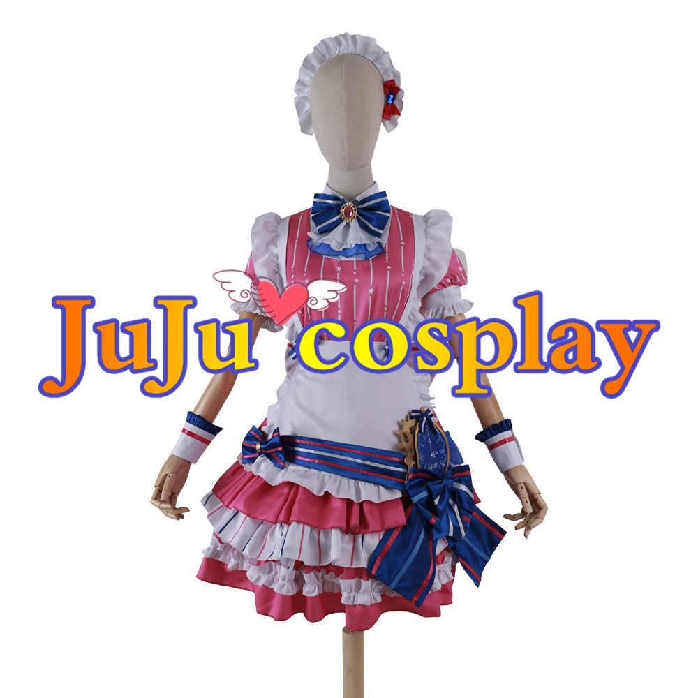 画像1: ラブライブ!スクフェスAC メイド・イン・レジデンス 桜内梨子 コスプレ衣装 (1)