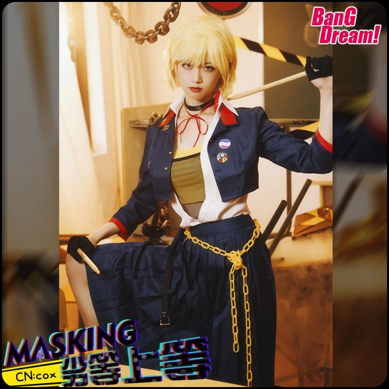 画像1: BanG Dream!(バンドリ!) ガルパ×ミクコラボ  RAISE A SUILEN RAS 劣等上等 マスキング コスプレ衣装 (1)