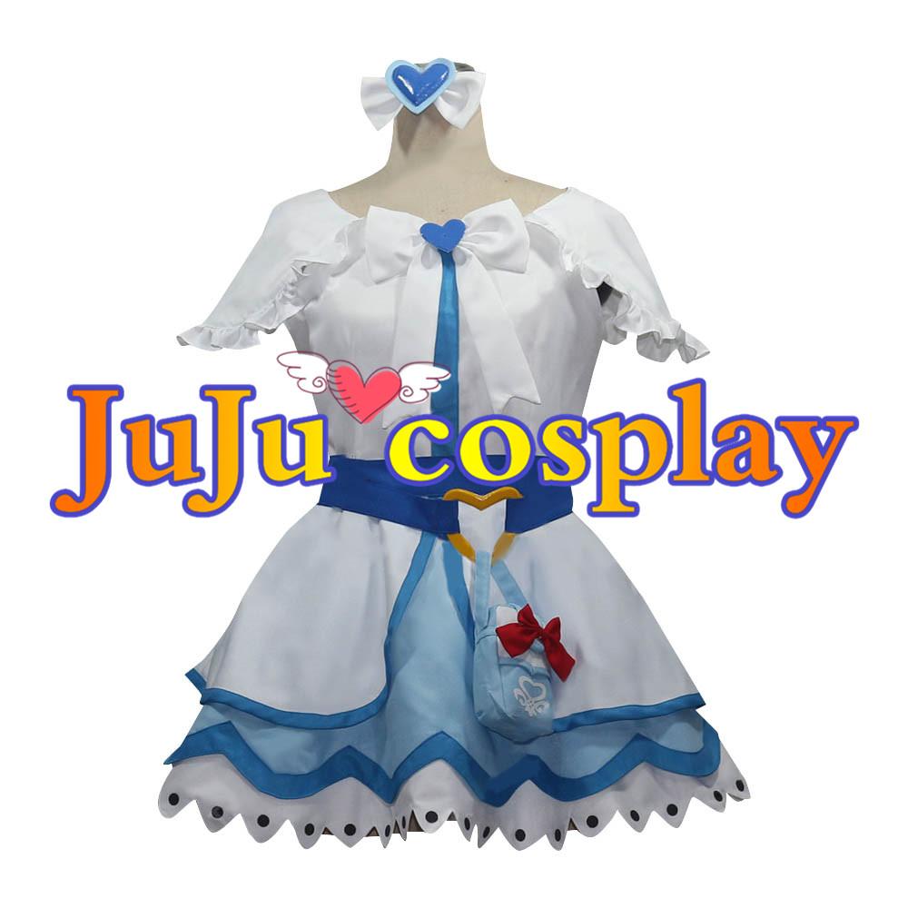 画像1: 送料無料 ふたりはプリキュア Max Heart 雪城ほのか(キュアホワイト) コスプレ衣装 コスプレチューム  (1)