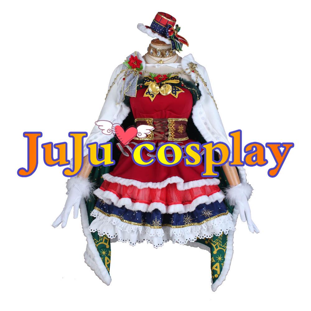 画像1: ラブライブ! サンシャイン!! Aqours クリスマスプレゼント編 津島善子 覚醒後 コスプレ衣装 (1)