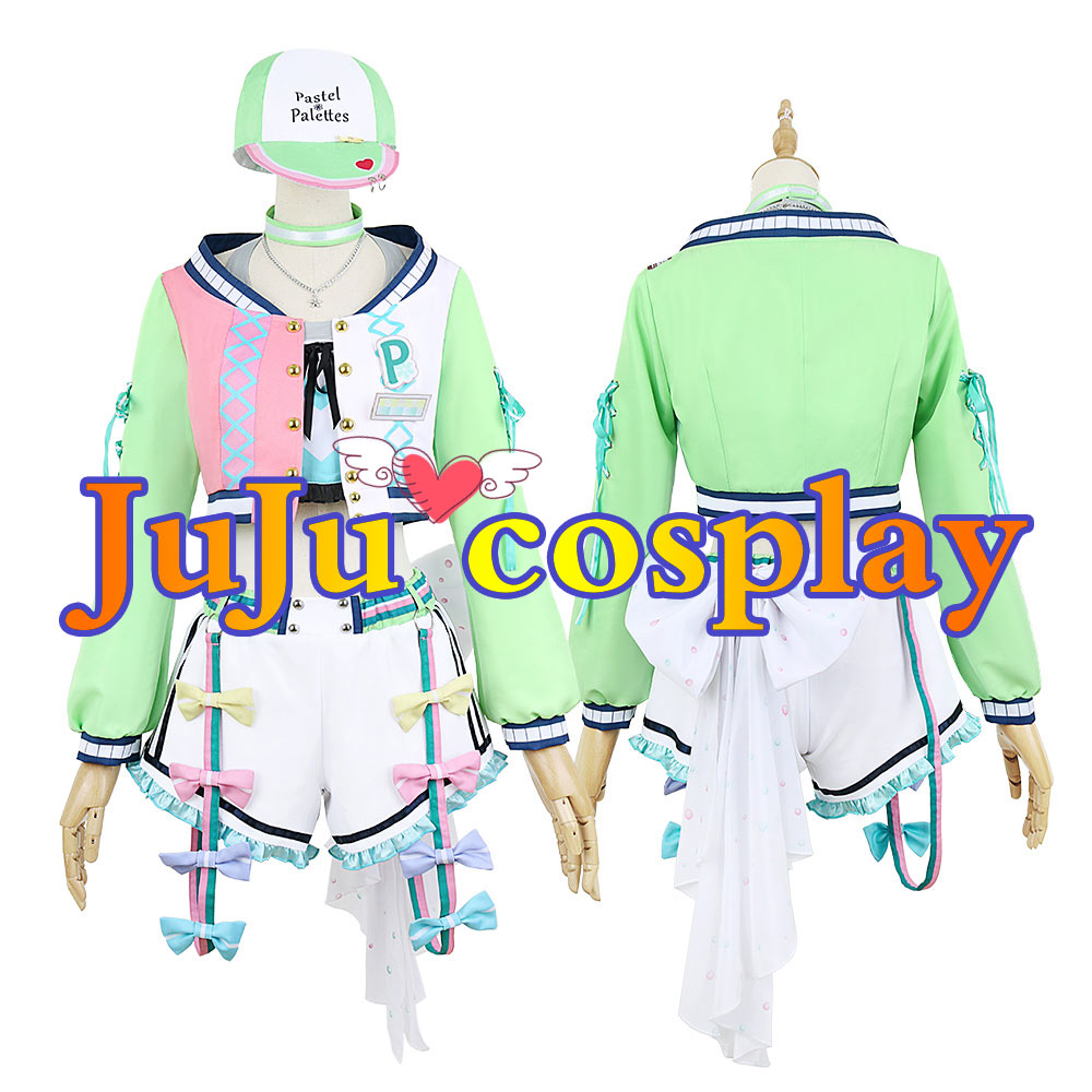画像1: BanG Dream!(バンドリ!) Pastel*Palettes ガールズスナップ 大和 麻弥 コスプレ衣装 (1)