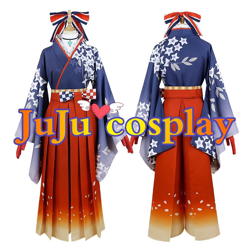 画像1: バーチャルYouTuber VTuber お正月衣装 不知火フレア コスプレ衣装 (1)