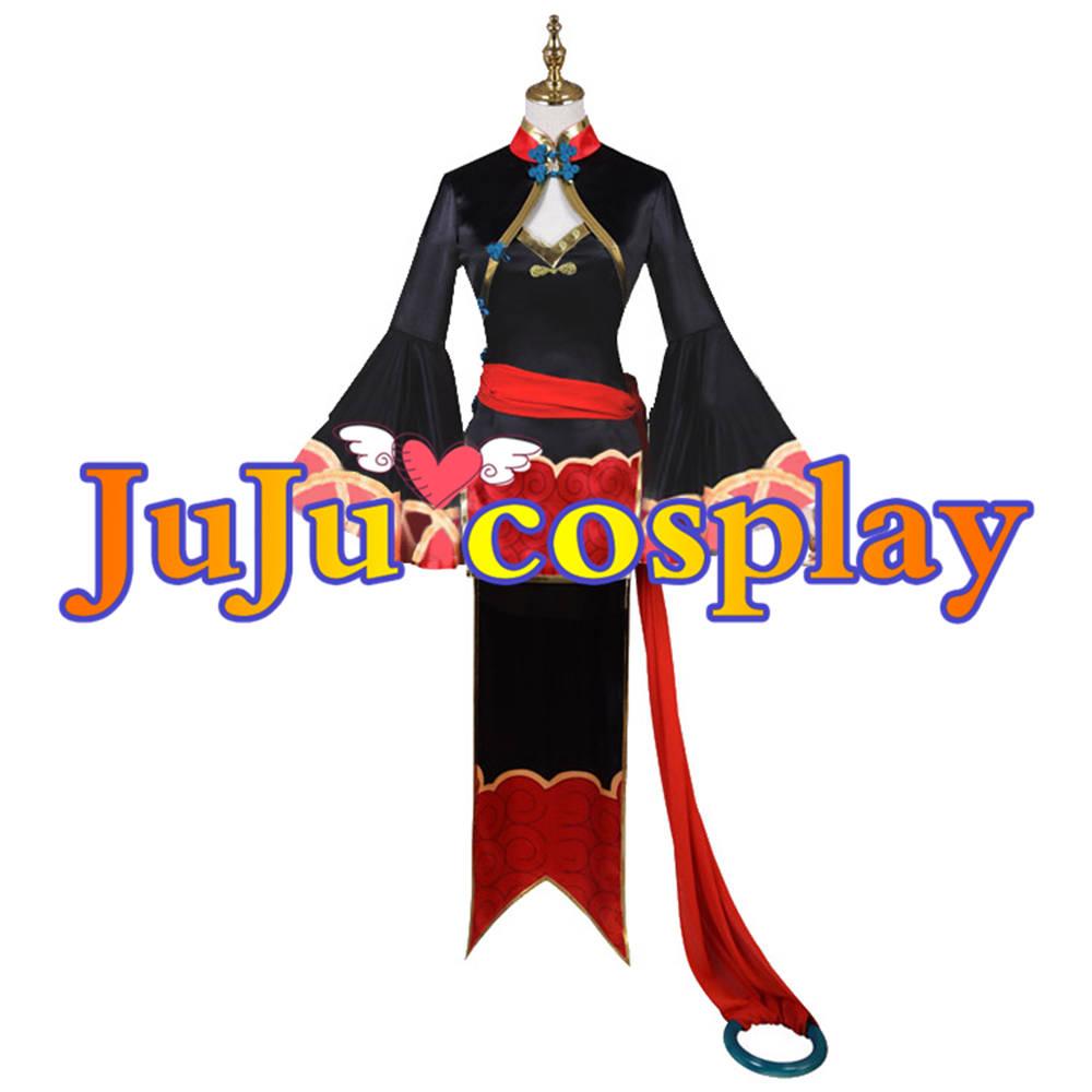 画像1: 送料無料 Fate/Grand Order FGO 酒呑童子 4周年英霊礼装(キョンシー) コスプレ衣装 コスプレチューム  (1)