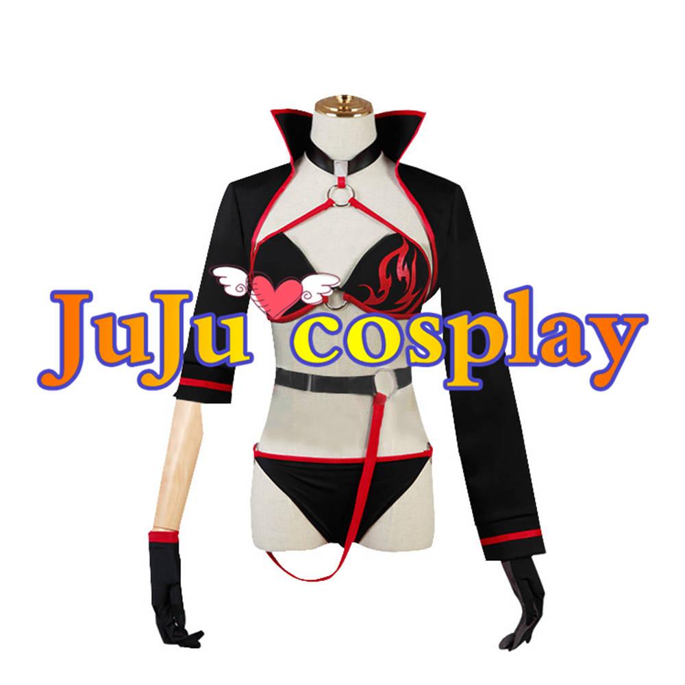 画像1: 送料無料 Fate/Grand Order FGO バーサーカー/ジャンヌ・ダルク 水着 コスプレ衣装 コスプレチューム  (1)