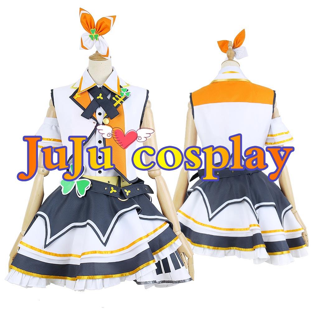 画像1: プロジェクトセカイ カラフルステージ! プロセカ MORE MORE JUMP! 花里みのり コスプレ衣装  (1)