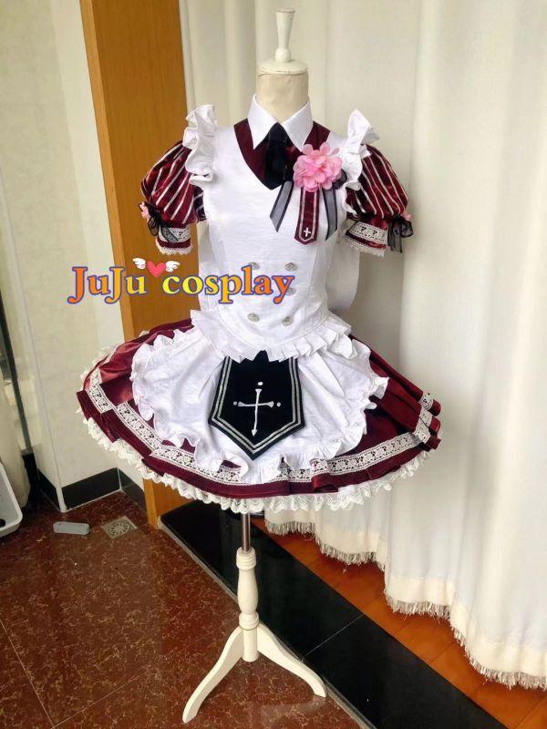 画像1: 紳士同盟† 乙宮 灰音 コラボカフェ衣装 コスプレ衣装 (1)