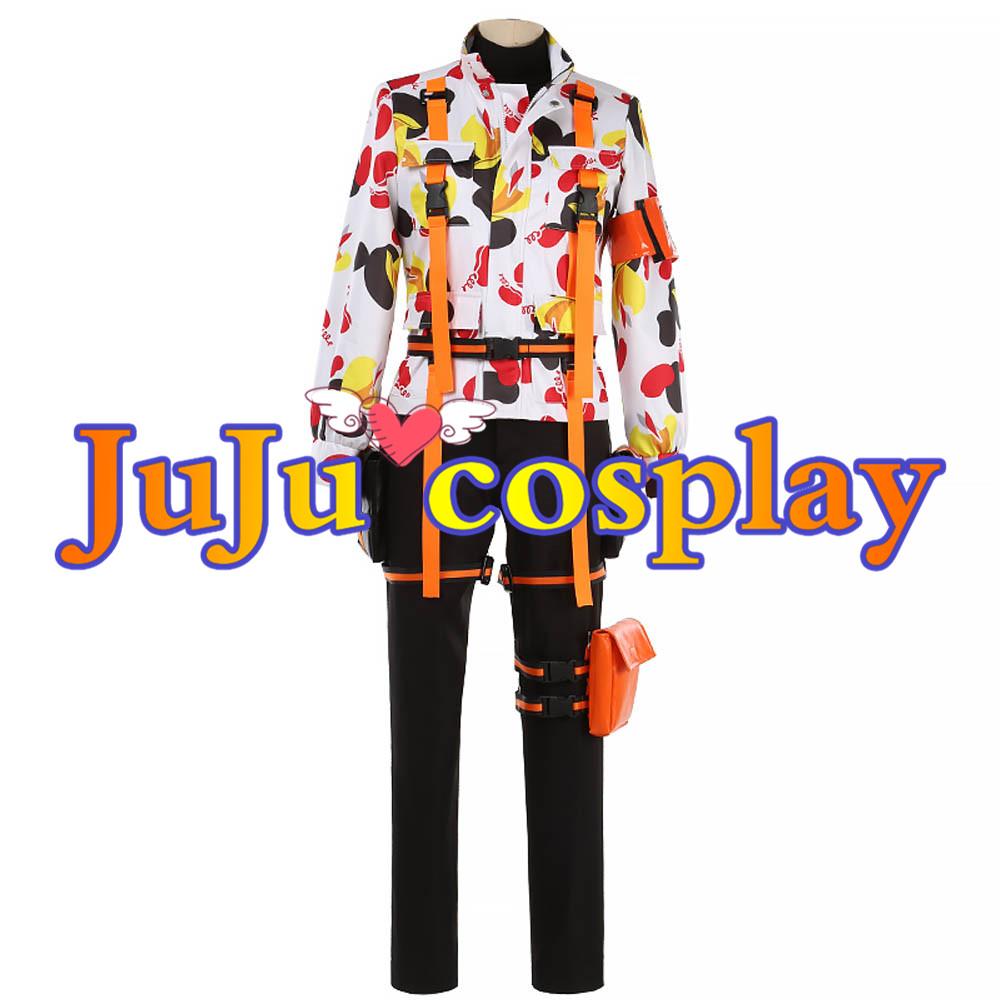 画像1: ツイステ SR/ビーンズカモ ジェイド・リーチ Jade Leech コスプレ衣装 コスプレチューム  (1)