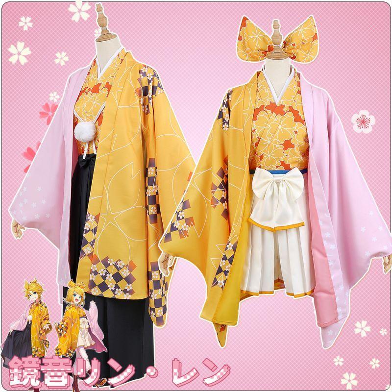 画像1: 桜ミク  鏡音リン 鏡音レン コスプレ衣装 (1)