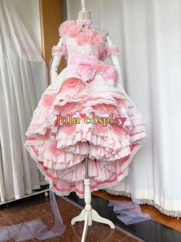 画像1: ある日、お姫様になってしまった件について アタナシア ドレス 華麗Ver. コスプレ衣装  (1)