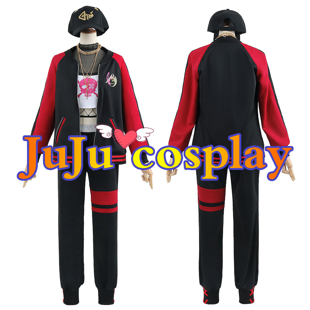 画像1: バーチャルホスト Mori Calliope 森 カリオペ コスプレ衣装 (1)