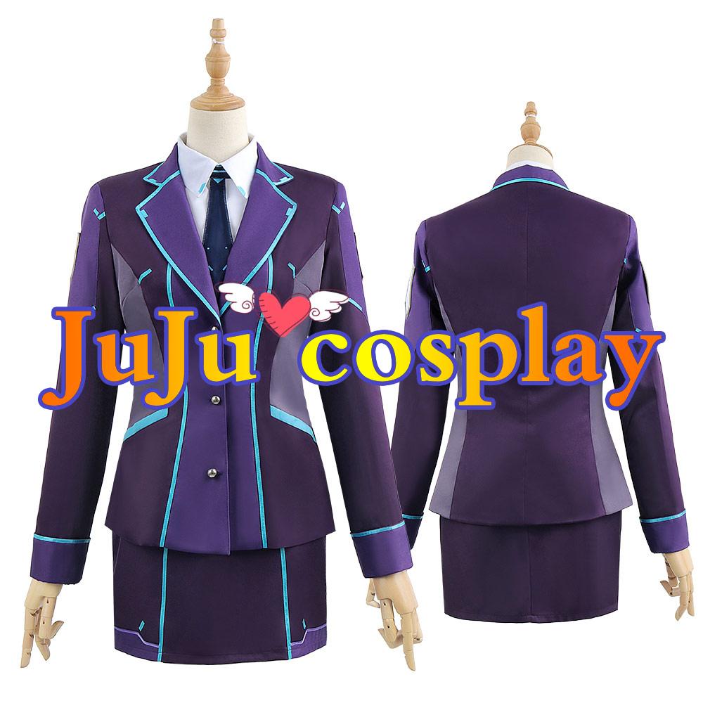 画像1: バーチャルYouTuber 夕陽リリ 制服 コスプレ衣装 (1)